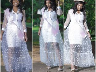 White Lace Polkadot Dresses